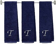 Von LORA besticktes Frottee-Handtuch für Bad und
