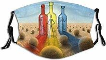 Von Mir gemaltes surreales Bild mit DREI Flaschen