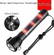 Von vielfältigen Funktionen-Taschenlampe Solar, Traglasten von Fahrzeug mit USB-Tools führen der Angriffe, ein Hammer, ein Messer-Lager, Kompass, Trekking, Fahrzeug Backup-automatische von Paketen. -sunny Rainbow