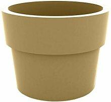 Vondom Planters–Becher, Durchmesser 30x 23cm, lackiert, beige