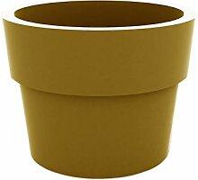 Vondom Planters–Becher, Durchmesser 30x 23cm, lackiert, Farbe champany