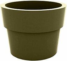 Vondom Planters–Becher, Durchmesser 30x 23cm, lackiert, khaki