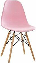 VOne Stuhl MFC Esszimmer Stuhl Kunststoff Erwachsenen Schreibtisch Hocker Rückenlehne Stuhl Haushalt Moderne Einfache Faule Massivholz Stuhl (Farbe : E)