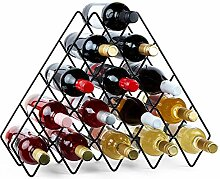 VonShef Weinregal für 15 Flaschen, Flaschenhalter