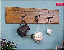 Vor Dem Haus Kreative Home Retro Zu Den Alten Hölzernen Tür Hook Clothing Store Hängenden Haken An Der Wand Dekoration Hanging Hook, B