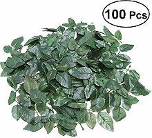 VORCOOL 100 Stücke Künstliche Pflanzenblätter