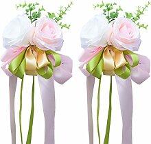 VORCOOL Autoschmuck Künstliche Rose Blume Auto