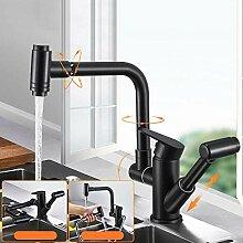 Vorfenster Küchenarmatur Klappbar Schwarz mit