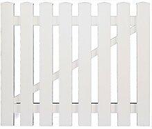Vorgartenzaun Kunststoff weiß Einzeltor (Serie