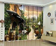 Vorhänge 3D-Raum Verdunkelung Blackout Fenster,