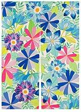 Vorhänge Blumen Früchte Halb Vorhänge Sonnenschutz Staubdicht Vorhänge Schränke Wohnzimmer Dekoration Ohne Teleskopstange,A-85*90CM