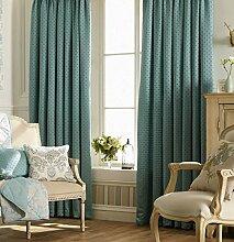 Vorhänge, fertige Vorhänge, Picardie, schwere Vorhänge, 168cm x 137 cm, blau