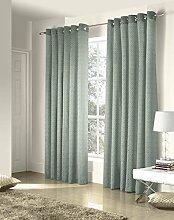 Vorhänge, Gardinen gesäumt, Vorhangpaare, Ritz, Jacquard, 122 cm x 135 cm, blau