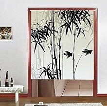 Vorhänge Pflanzen Bambus Vorhang Sonne Wind Schiebegardine Eingang Schrank Dekorativ Non-Teleskopstange,C-85*90CM