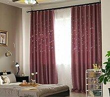 Vorhänge Schatten Vorhänge abgeschlossen undurchsichtig Sonnenschutz Leinen voller Schatten Vorhänge Tuch Isolierung Wohnzimmer Schlafzimmer Boden Fenster perforierte Vorhänge (Doppelplatten) (Größe: 300cm * 270cm) Gardinen ( größe : 250*270cm )