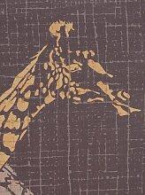 Vorhang 145 cm, Ösen, 140 cm schwarz