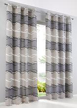 Vorhang (1er Pack), grau (H/B: 175/135 cm)