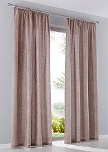 Vorhang (2er Pack), beige (H/B: 175/135 cm)