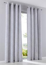 Vorhang (2er Pack), grau (H/B: 145/135 cm)