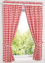 Vorhang Alvin (4-tlg. Set), rot (H/B: 120/80 cm)