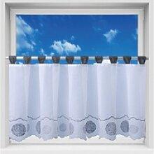 Vorhang, Arsvita, Schlaufen, Bistrogardine mit
