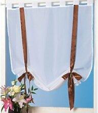 Vorhang, Arsvita, Schlaufen, Weiße Raffgardine