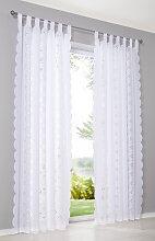 Vorhang Asta (1er-Pack), weiß (H/B: 245/140 cm)