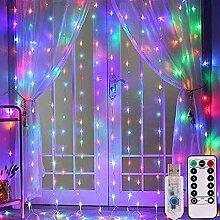 Vorhang-Fee-Schnur-Licht mit Fernbedienung USB