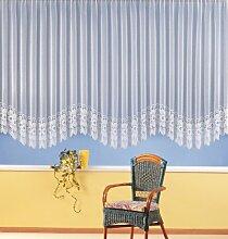 Vorhang, Fertiggardine, Gardine reinweiß mit