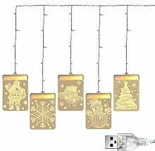 Vorhang FüHrte Lichter Der Schnur-3D, Dekorative