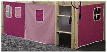 Vorhang für Hochbett Kinderbett Stoff 3-teilig