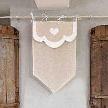 Vorhang Gardine Scheibengardine Landhaus Shabby
