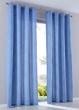 Vorhang Gunilla (2er-Pack), blau (H/B: 145/135 cm)