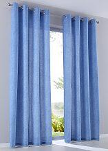 Vorhang Gunilla (2er-Pack), blau (H/B: 175/135 cm)