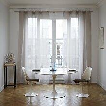 Vorhang Heaton mit Ösen (1 Stück), transparent