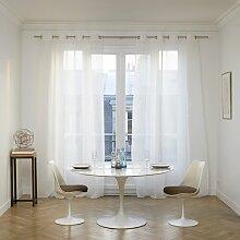 Vorhang Heaton mit Ösen (1 Stück), Weiß