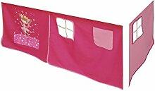 Vorhang Hochbett, Kinderbett Zauberfee Stoff 3-teilig Pink, rosa incl.Kebekle