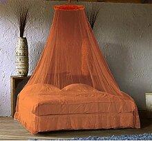 Vorhang Insektenschutz Baldachin für Bett–Orange