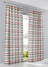 Vorhang Javier (1er-Pack), rot (H/B: 225/135 cm)