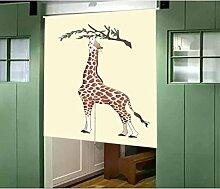 Vorhang Karikatur Tier Giraffe Halber Vorhang Sonnenschutz Windschutzscheibe Eingang Studie Vorhang Ohne Teleskopstange,E-85*90CM