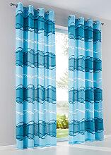 Vorhang Mika (1er-Pack), petrol (H/B: 145/135 cm)