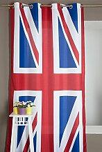 Vorhang Mit England Flagge Motiv 140 X 245 Ro