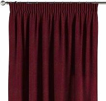 Vorhang mit Kräuselband, bordeaux, 130 × 260 cm,