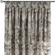 Vorhang mit Kräuselband, braun-schwarz, 130 ×