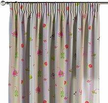 Vorhang mit Kräuselband, bunt, 130 × 260 cm,