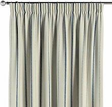 Vorhang mit Kräuselband, creme- blau, 1 Stck. 130