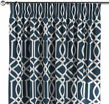 Vorhang mit Kräuselband, dunkelblau, 130 × 260
