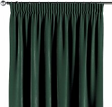 Vorhang mit Kräuselband, dunkelgrün, 1 Stck. 130