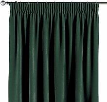 Vorhang mit Kräuselband, dunkelgrün, 130 × 260