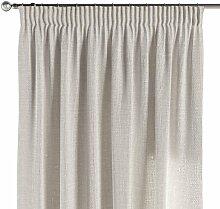 Vorhang mit Kräuselband, elfenbein , 130 × 260